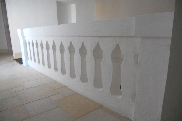 ancient balustrade